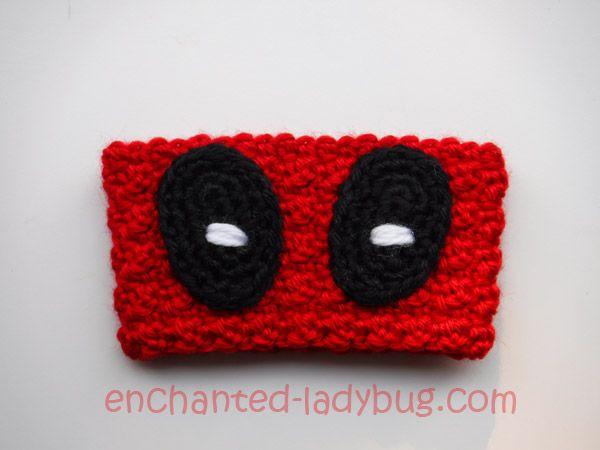 Free crochet Deadpool Coffee Cup Cozy pattern | PATTERNS:CROCHET ...