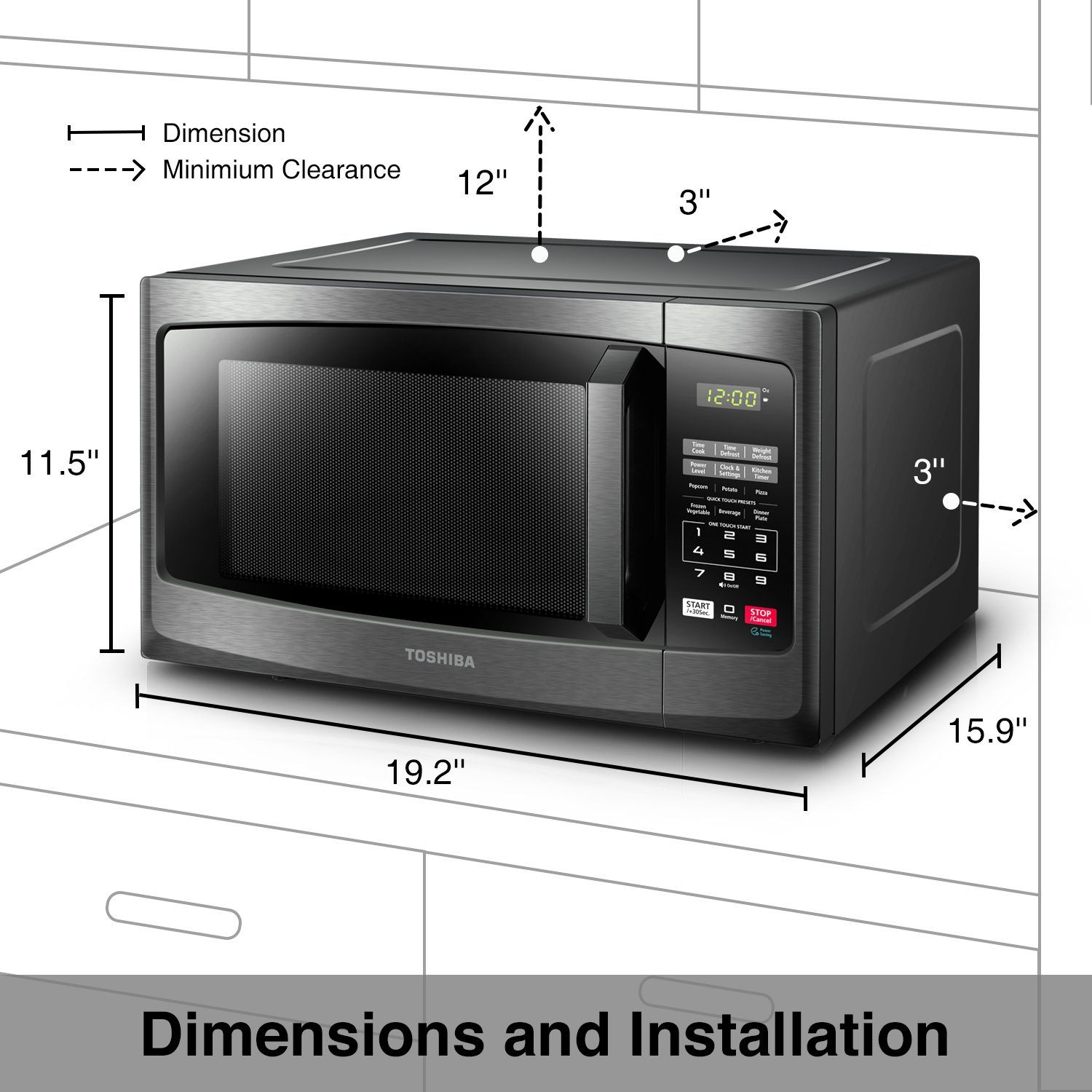Toshiba Em925a5abs Microwave Oven With Sound On Off Eco Mode And