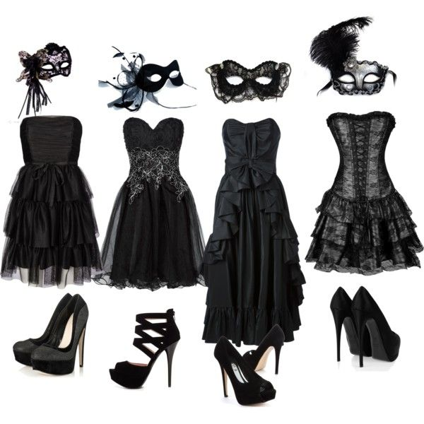 Black and White Masquerade Ball Dresses