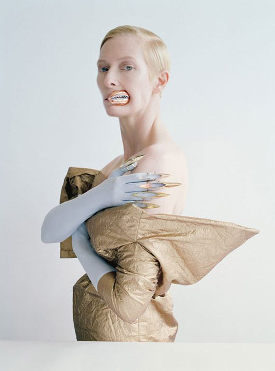 Tilda Swinton photographed by Tim Walker and styled by Jacob K in the story 'Stranger Than Paradise' for the May 2013 issue of W magazine