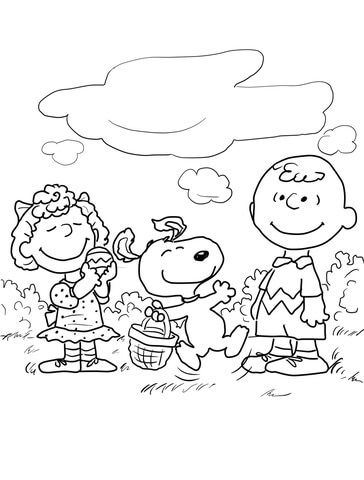 Peanuts Easter Coloring Page Free Printable Coloring Pages Easter Coloring Pages Snoopy Coloring Pages Easter Colouring