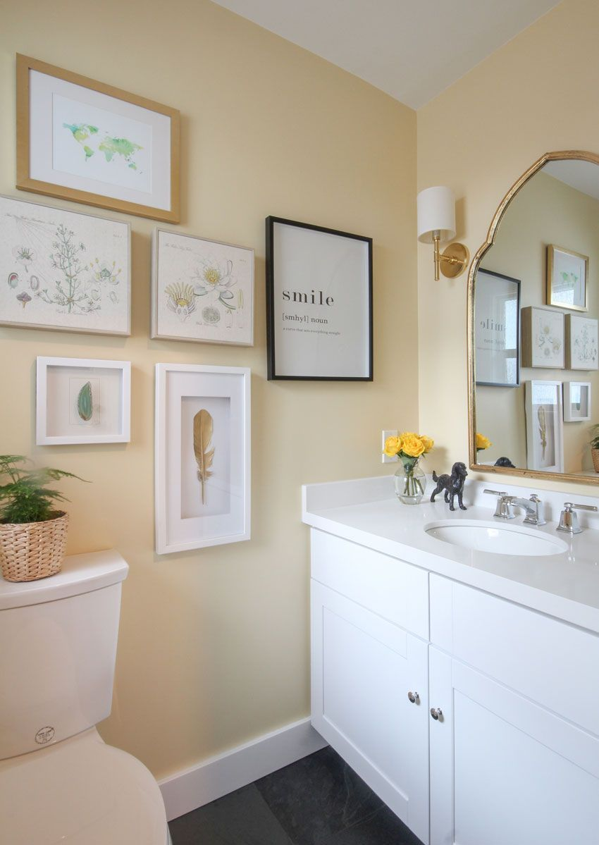 Photo of Happy Yellow Powder Room: Before & After   Best Yellow Paint