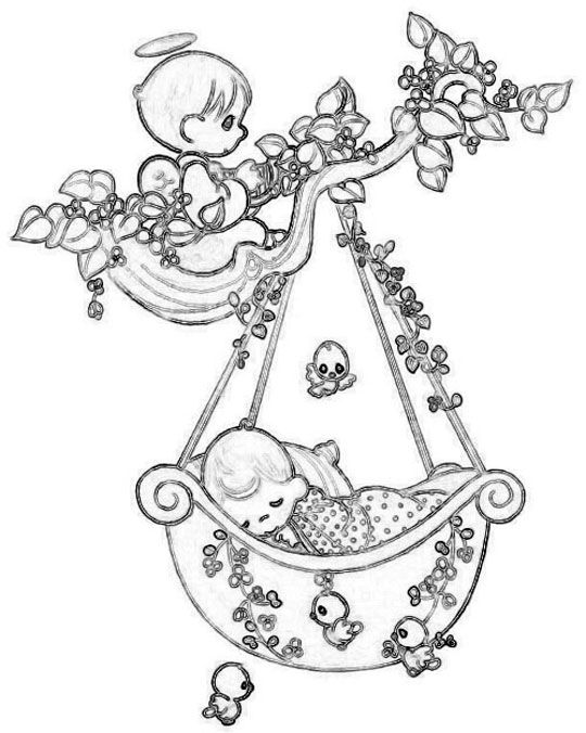 Pin By Lydie Courty On Precious Moments Baby Shower Precious Moments Coloring Pages Angel Coloring Pages Coloring Pages