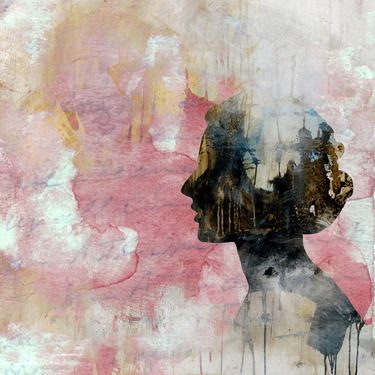 "Saatchi Online Artist eva christin laszka; Mixed Media, ""TRUST"" #art"