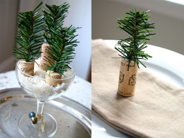 adornos navideos hechos con corchos de vino