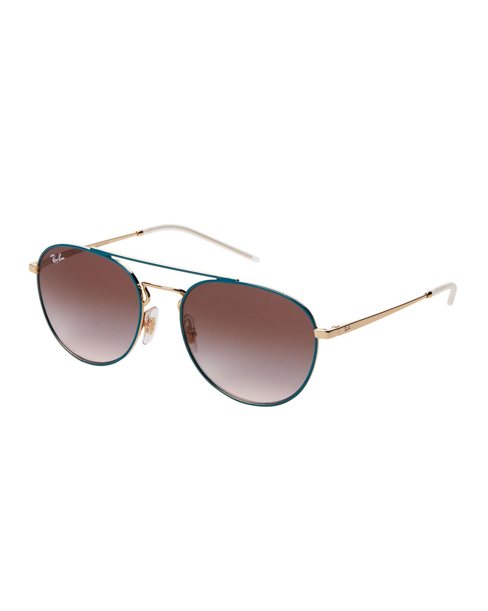 23a94228b59 RB 3589 Blue   Gold-Tone Aviator Sunglasses in 2019