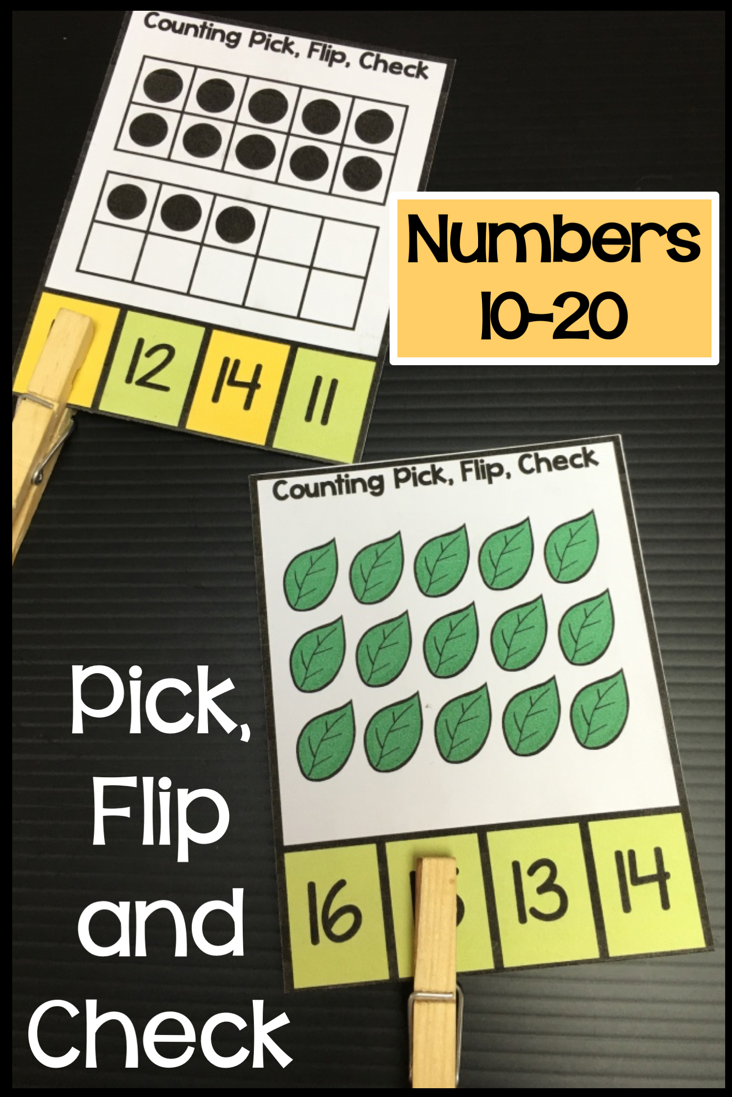 Counting 10 20 Clip Cards Numbers 10 20 Ten Frames And