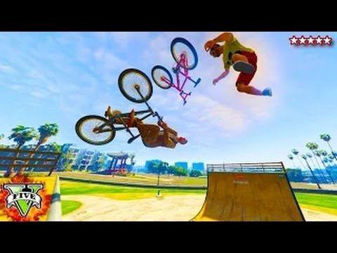 Gta 5 Bmx Best Bmx Gta 5 Stunts Jumps Gta Bmx Park Fun