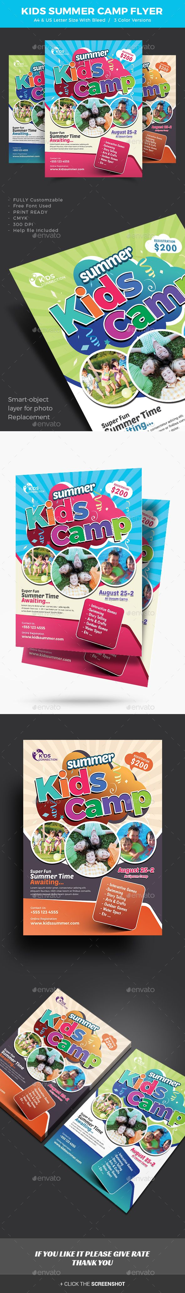 Kids Summer Camp Flyer   Ilustraciones