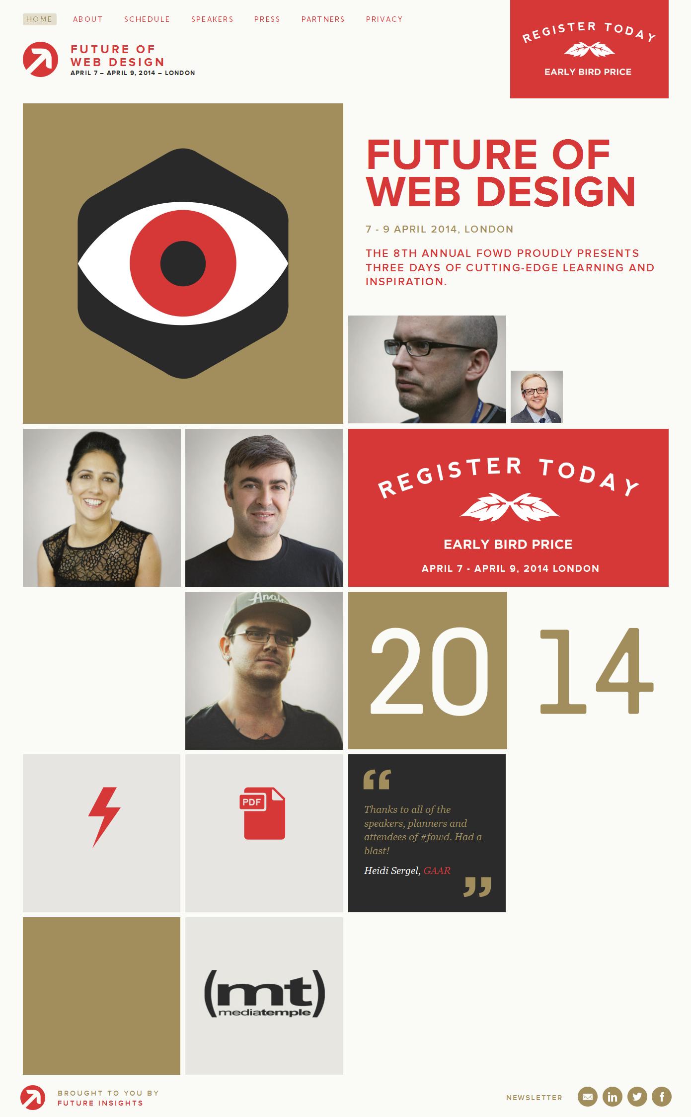 Future of web design 2014 웹디자인