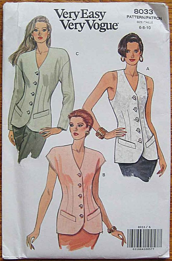 Misses' Very Easy Top with Sleeve Variations Vest by ecoquilter, $12.00