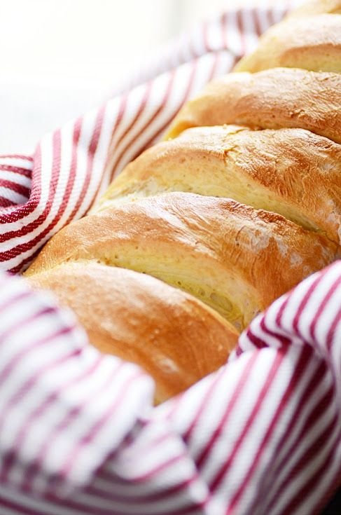 Homemade French Bread with Warm Water, Yeast, Sugar, Salt ...