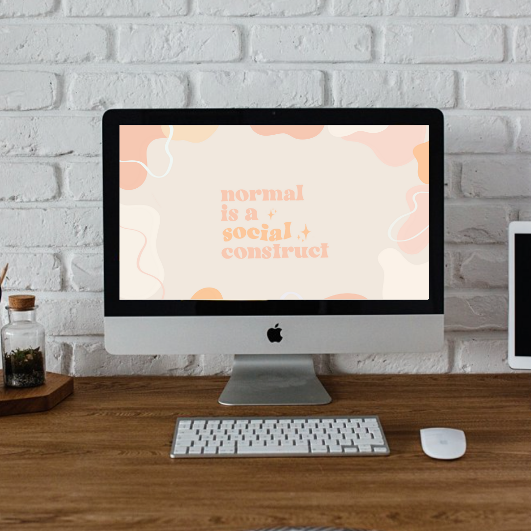 Normal Is A Social Construct Wallpaper Instant Digital Etsy In 2021 Mac Desktop Macbook Desktop Backgrounds Cute Desktop Wallpaper