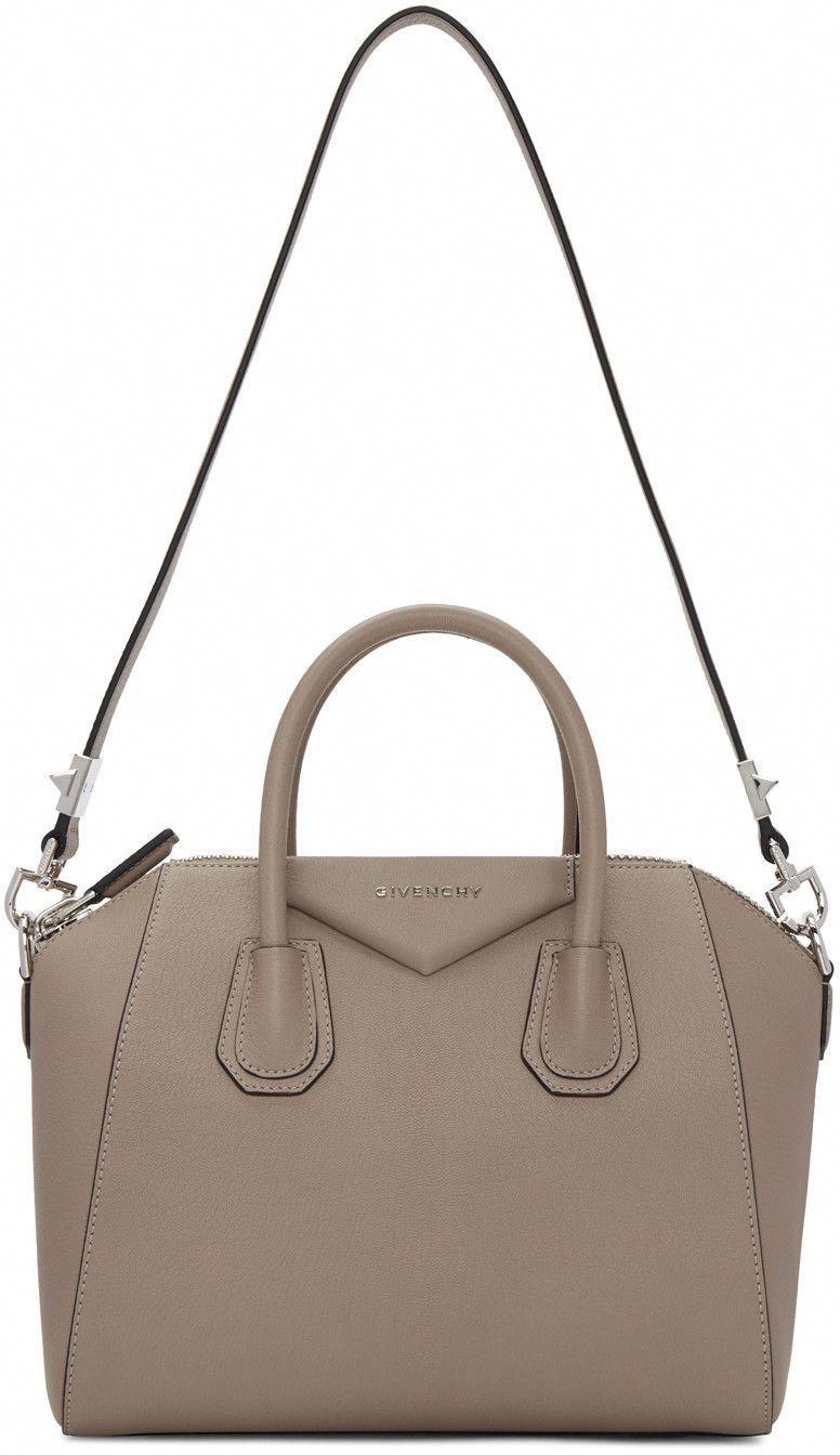 GIVENCHY Taupe Small Antigona Bag.  givenchy  bags  shoulder bags  hand bags   leather  lining    Designerhandbags 6a8c36cbf82d1