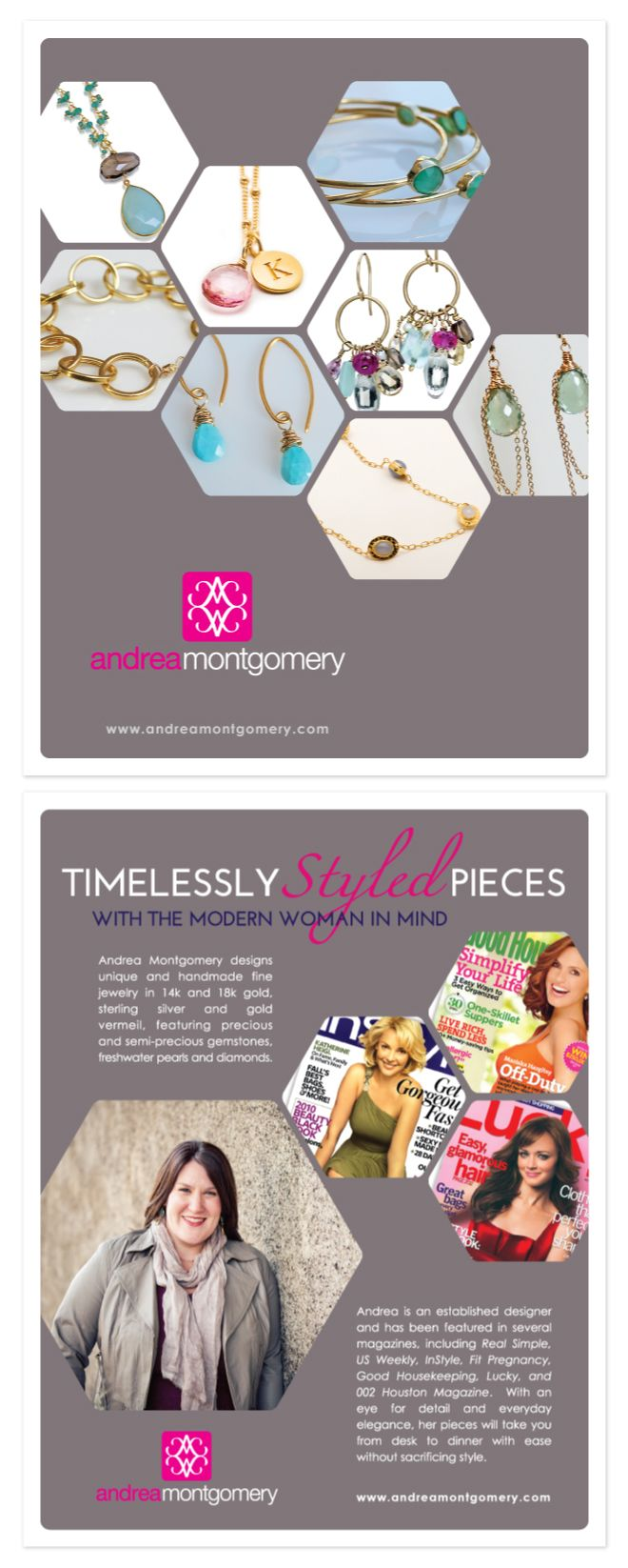 Brochure Design For A Very Talented Jewelry Designer In San