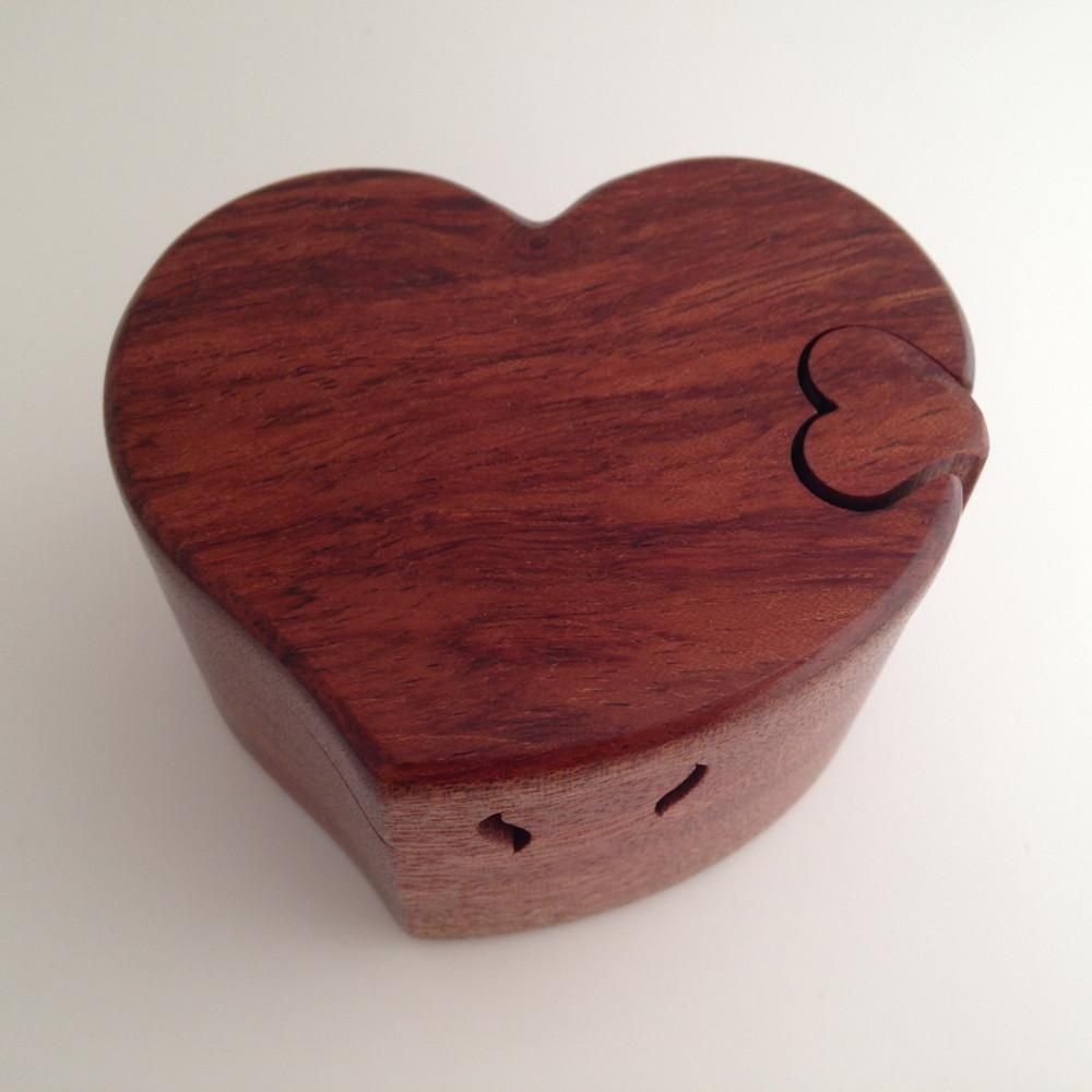 Wooden Heart Puzzle Box Puzzle Box Wooden Puzzle Box Wooden Hearts