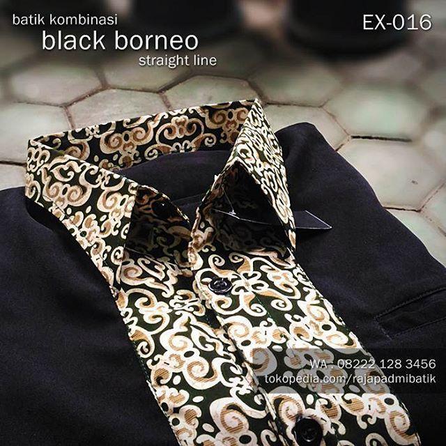 SERAGAM BATIK Kemeja Batik Modern Baju Batik Kombinasi BLACK