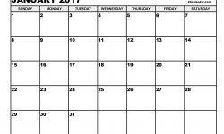 Blank January 2017 Calendar Printable Printable Calendar
