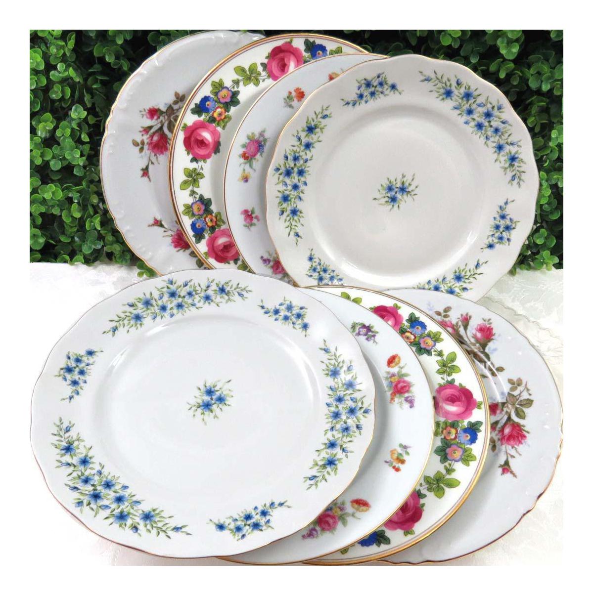 Mismatched Vintage Dinner Plates Set Of 8 On Chairish Com