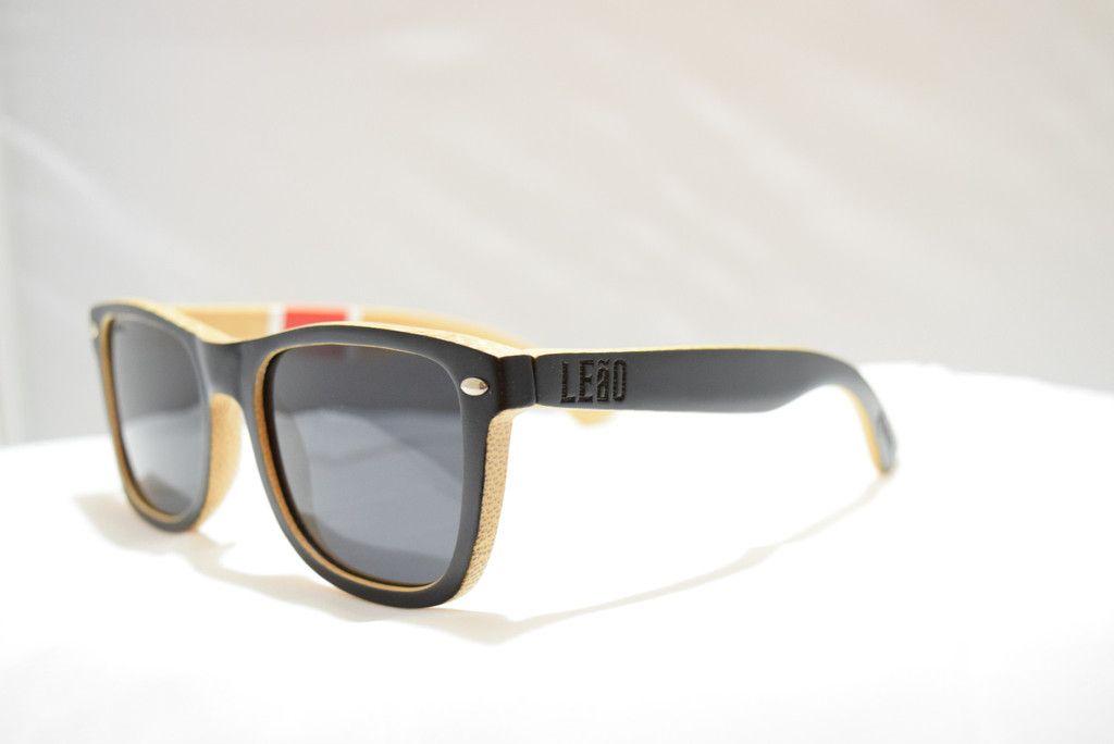 LeaO Optics Jits Players Bamboo Sunglasses float in water uv 400 polarized
