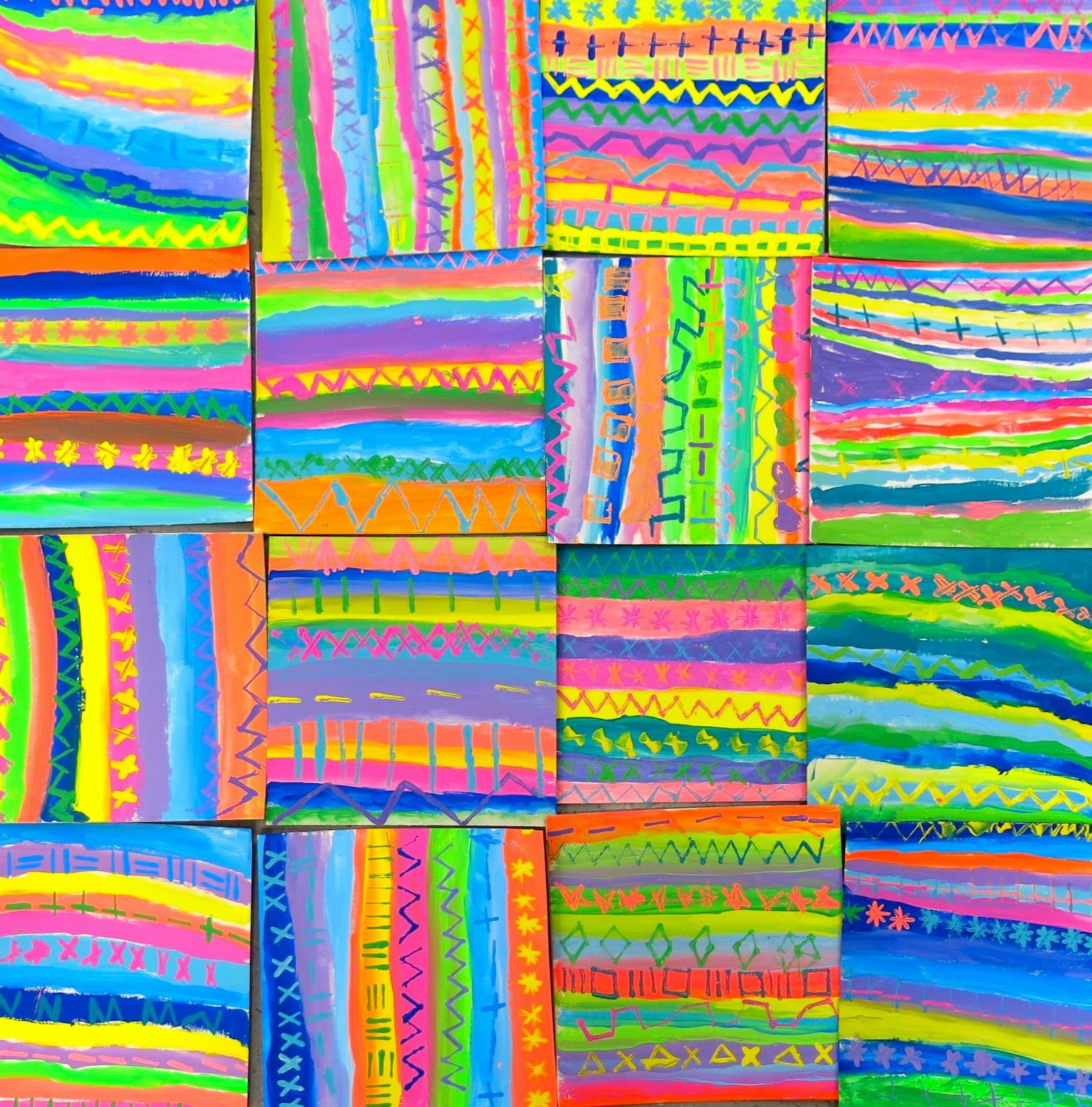 Cassie Stephens: In the Art Room: A Scrap Yarn Relief by ...