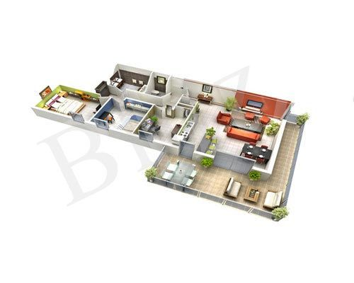 At Blitz 3D design, we represent considerable authority in making 3D Floor Plan Design Services with the goal that you can exhibit the actual designs to your customers in 3D!