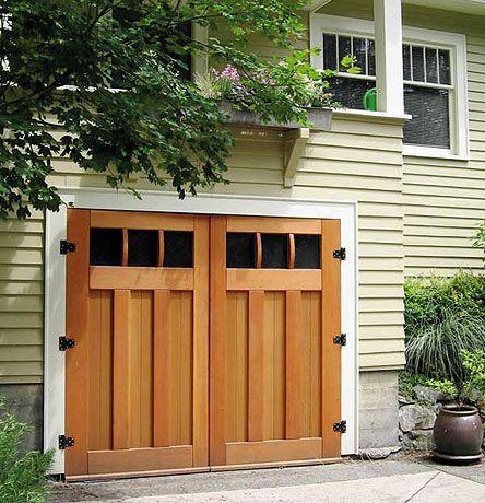 Going From A 2 Car Garage To A 1 Car Garage Garage Door Styles Garage Door Design Craftsman Style Garage Doors