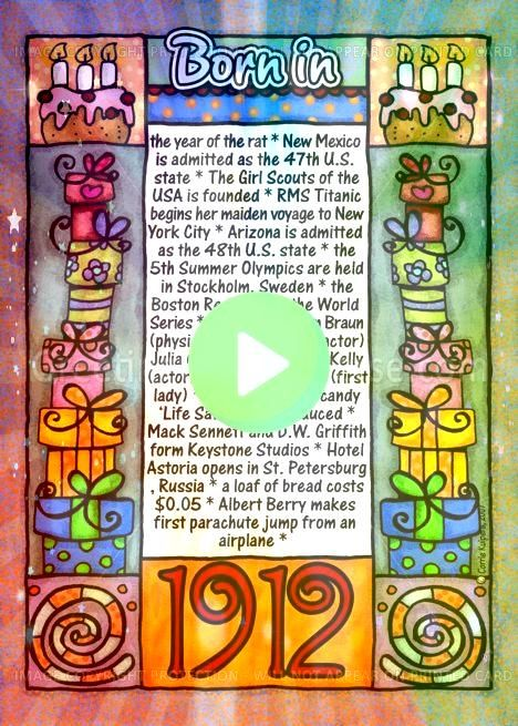 facts birthday  1912 card fun facts birthday  1912 card  Back In 2007 NewspaperStyle DIGITAL Poster 2007 Birthday  Etsy Back In 1977 40th Birthday PRINTABLE Sign 40th by...