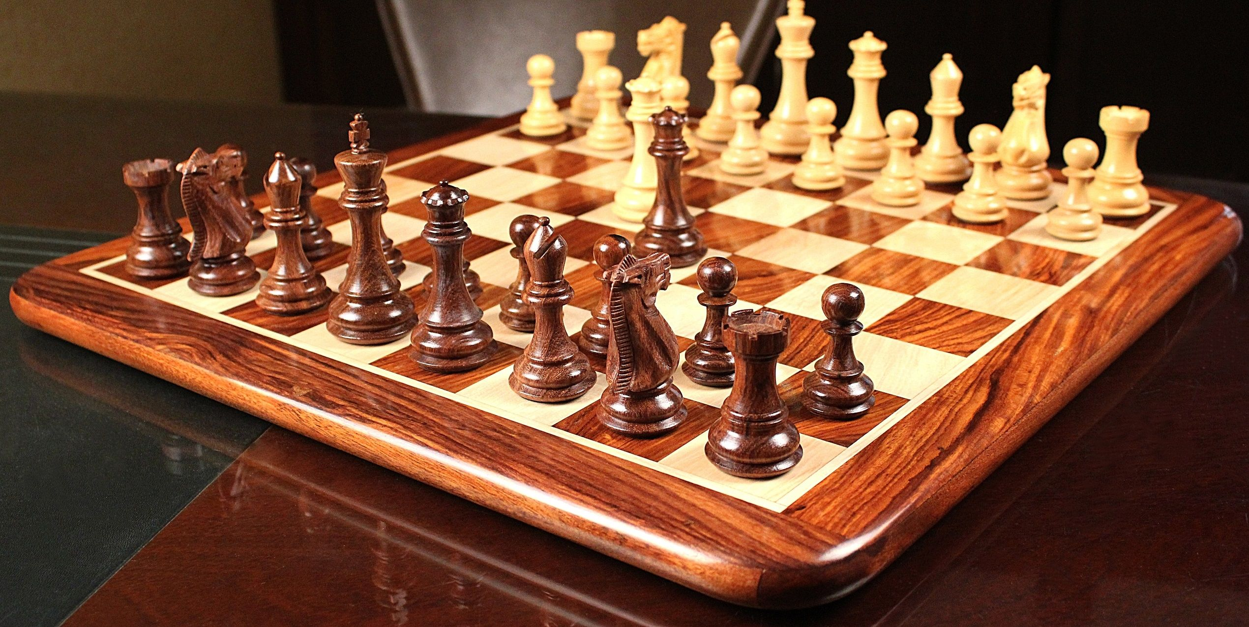 cool and opulent wood chess pieces. Chess Desert Gold Men Set in Sheesham  Box Wood with Board 4 0