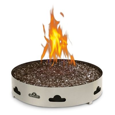 Napoleon Fire Pit Gpfgp 2 Patioflame Propane Gas Fire Ring With Glass Glass Fire Pit Natural Gas Fire Pit Natural Gas Outdoor Fireplace