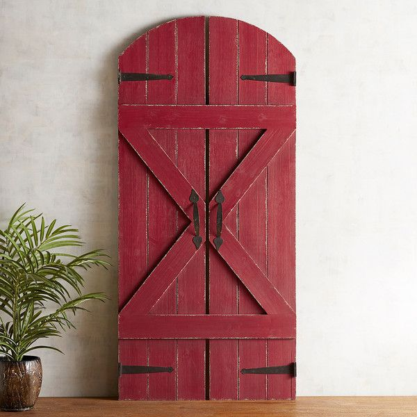 Pier 1 Imports Barn Doors Wall Decor ($169) ❤ liked on Polyvore