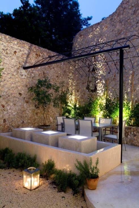 Terraza Jardines de estilo ecléctico por Taller Estilo Arquitectura