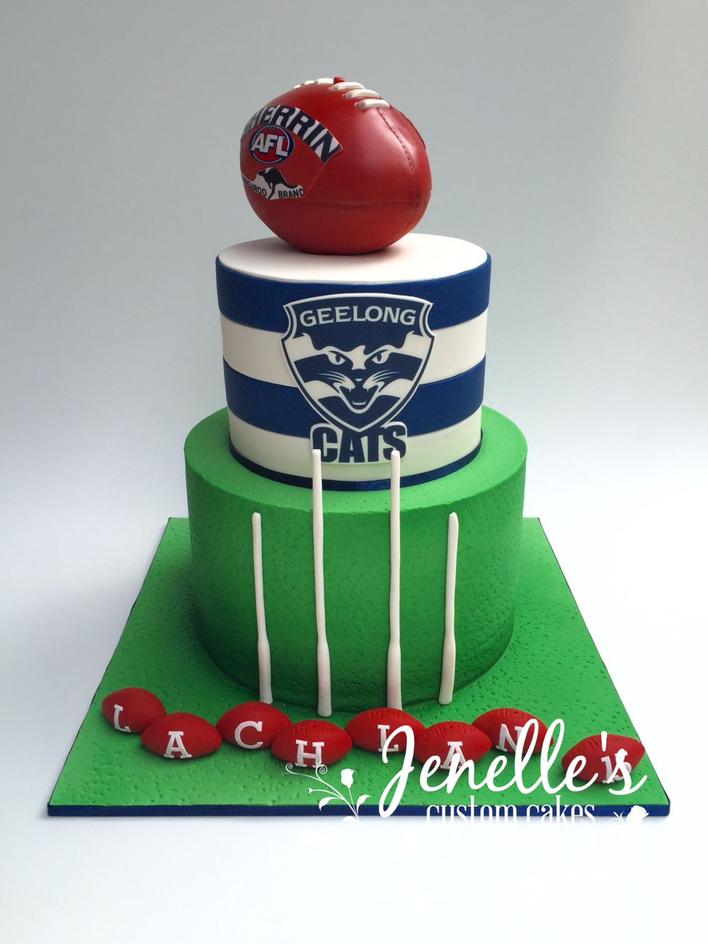Geelong Cats Football Club Cake With Fully Edible Football By