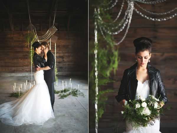 Rock And Roll Chic Wedding