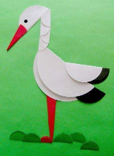Manualidades Con Papel Garza Circle Crafts Bird Crafts Paper Crafts For Kids