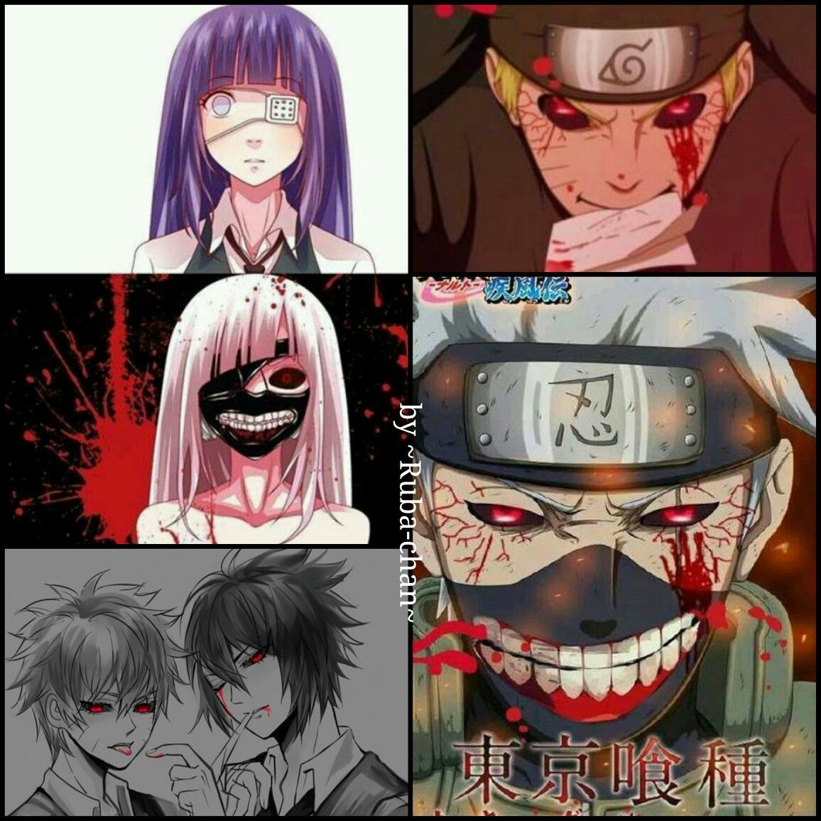 Naruto Tokyo Ghoul crossover Tokyo ghoul crossover