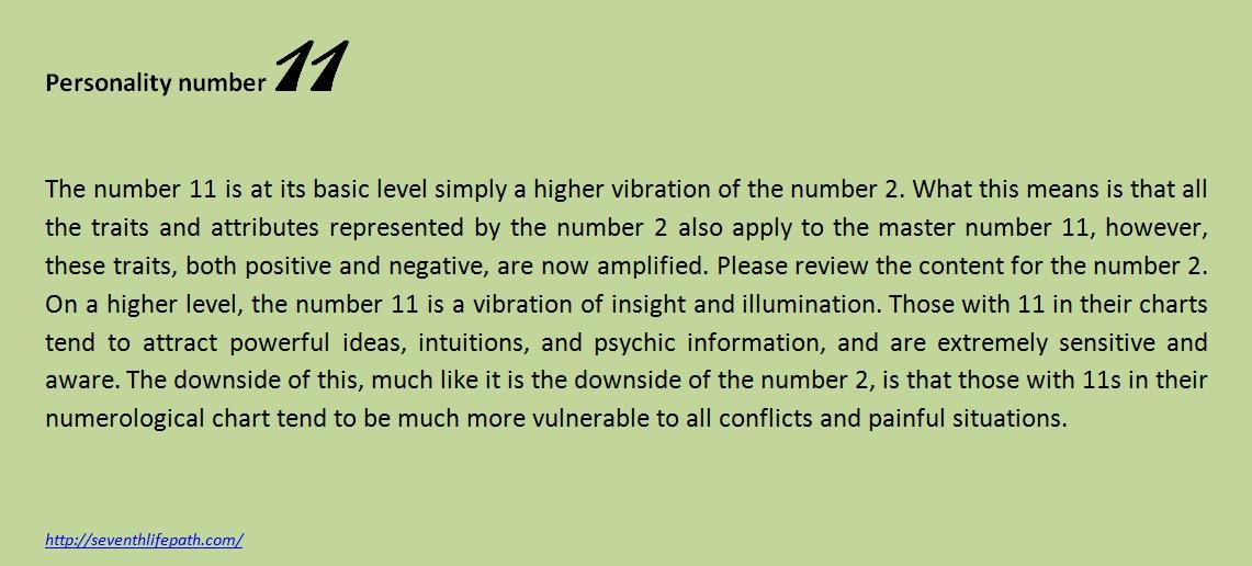Personality number 11 | Numerology    | Numerology numbers