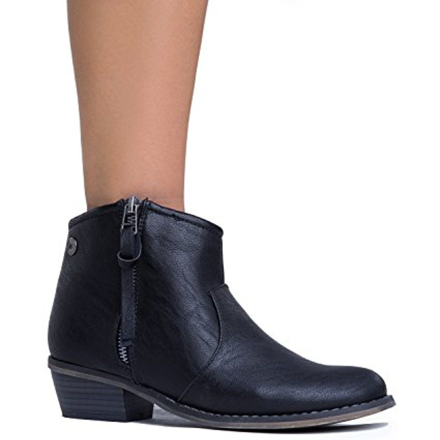 Women's Dorado-11 Western Ankle Boot Black-11 8