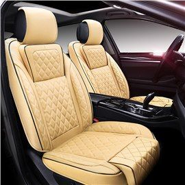 Luxury Beige Colored Diamond Patterns Extra Comfort Universal Car Seat Covers Car Seats Seat Covers Carseat Cover