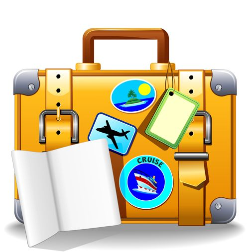 Summer Travel Suitcase Backgrounds Vector 03 Summer Travel Suitcase Traveling Travel Clipart