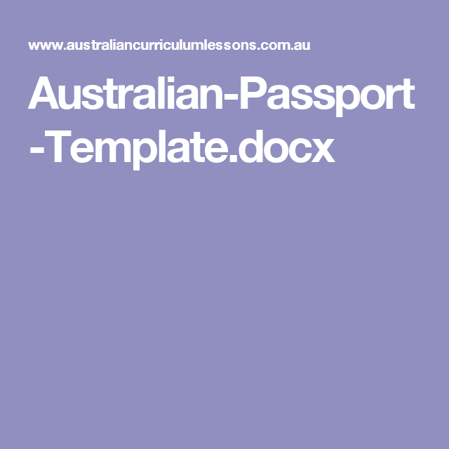 AustralianPassportTemplateDocx  Bahasa Indonesia