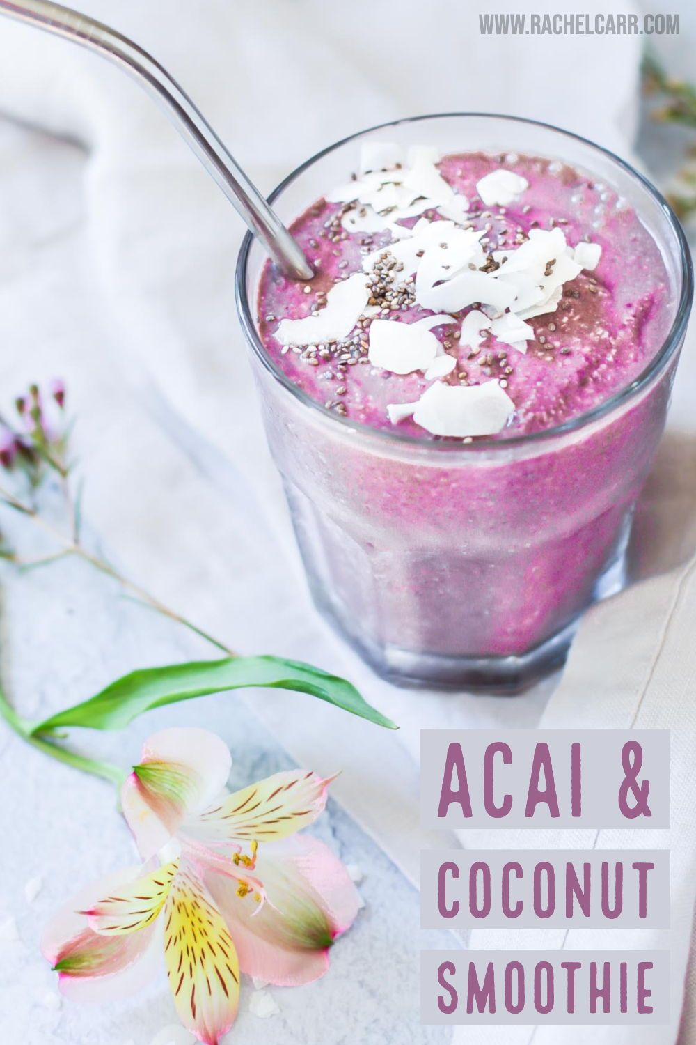Acai Coconut Protein Smoothie