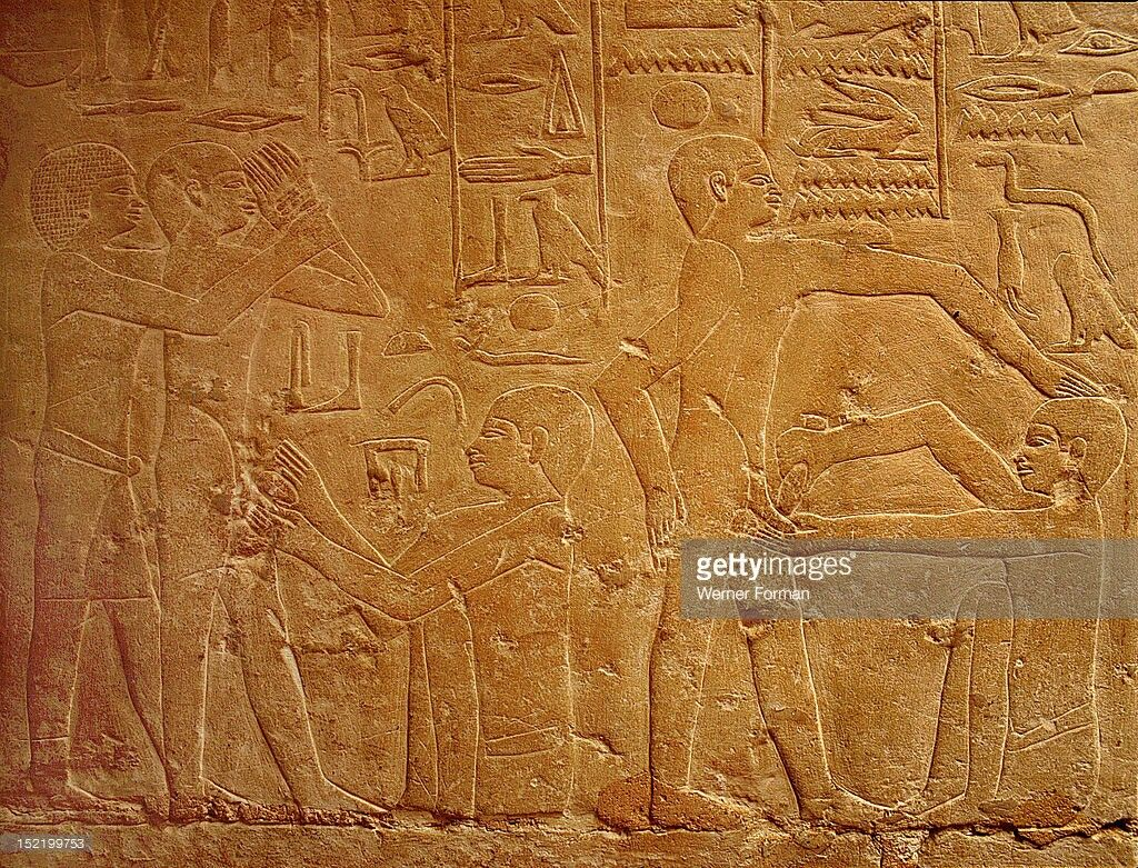 Ancient Egypt Circumcision The Nude Male At Right Is -7083