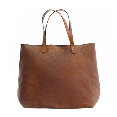 madewell the leather transport tote