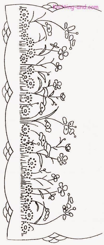 Tutoriales y DIYs: Patrón bordado flores   Embroidery   Pinterest ...