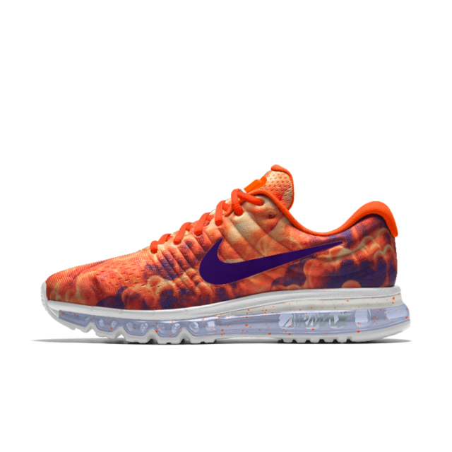 52784cbd Nike Air Max 2017 iD Running Shoe   Clemson Running Shoes   Nike Air ...