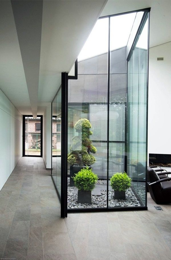 40 Modern Indoor Garden Ideas From Future Patio Interior Interior Garden Indoor Courtyard