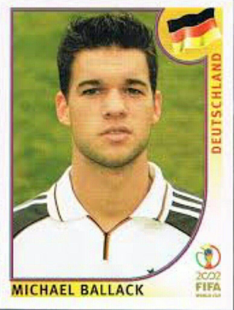 Michael Ballack Of Germany 2002 World Cup Finals Card Mundial De Futbol Futbol Internacional Fifa