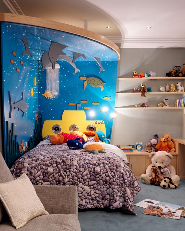 Dormitorios infantiles tem ticos bajo el mar for Muebles bajos dormitorio para adultos