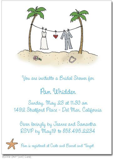 Beach Wedding Invitation Sayings Destination Wedding Invitations
